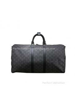 Louis Vuitton Keepall Bandouliere 55 Monogram Eclipse Canvas M40605