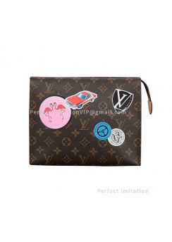 Louis Vuitton Monogram World Tour Limited Edition Pouch Bag M41438