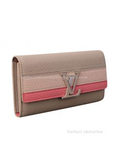 Louis Vuitton Portefeiulle Capucines Zip Purse M62132