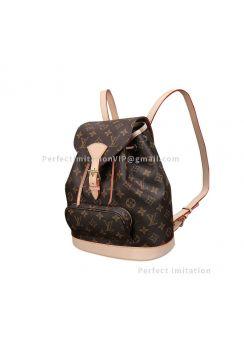 Louis Vuitton Monogram Montsouris MM Backpack M51136