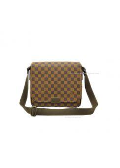 Louis Vuitton Damier Ebene Canvas District PM Messenger Bags N41213