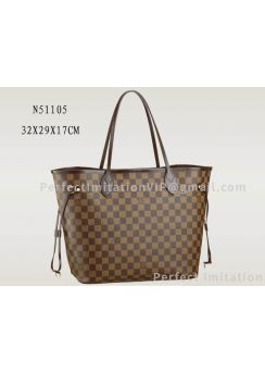 Louis Vuitton Damier Canvas Neverfull MM N51105