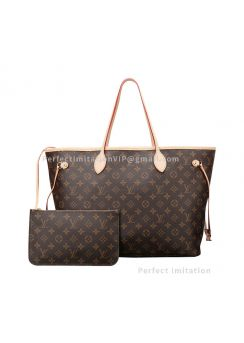 High-End Monogram Canvas Neverfull GM Beige M40990