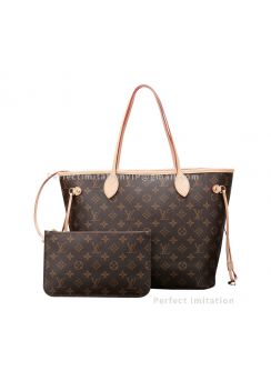 High-End Monogram Canvas Neverfull MM Beige M40995