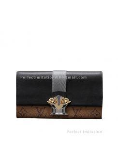Louis Vuitton Monogram Reverse Canvas Sarah Wallet M64488