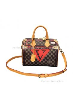 Louis Vuitton Damier Ebene Canvas Speedy 25 N52249