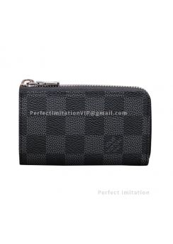 Louis Vuitton Car Key Case Damier Graphite Canvas N64410