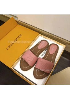Louis Vuitton Lock It Flat Mule 1A875C Pink 201842
