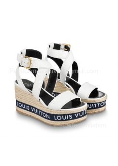 Louis Vuitton Boundary Wedge Sandal 1A64GG 201850