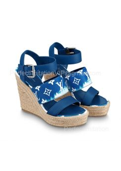 Louis Vuitton LV Escale Starboard Wedge Sandal 1A7U48 201852