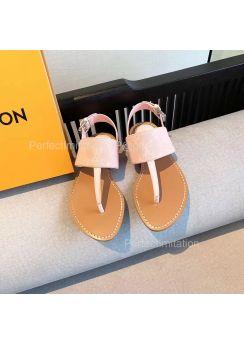 Louis Vuitton Starboard Flat Thong Sandal Pink 201854